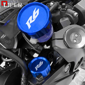Motorcycle Front & Rear Brake Reservoir Fluid Cover For yamaha YZF R6 2000-2014 2015 2016 2017 2018 2019 2020 YZFR6 YZF-R6