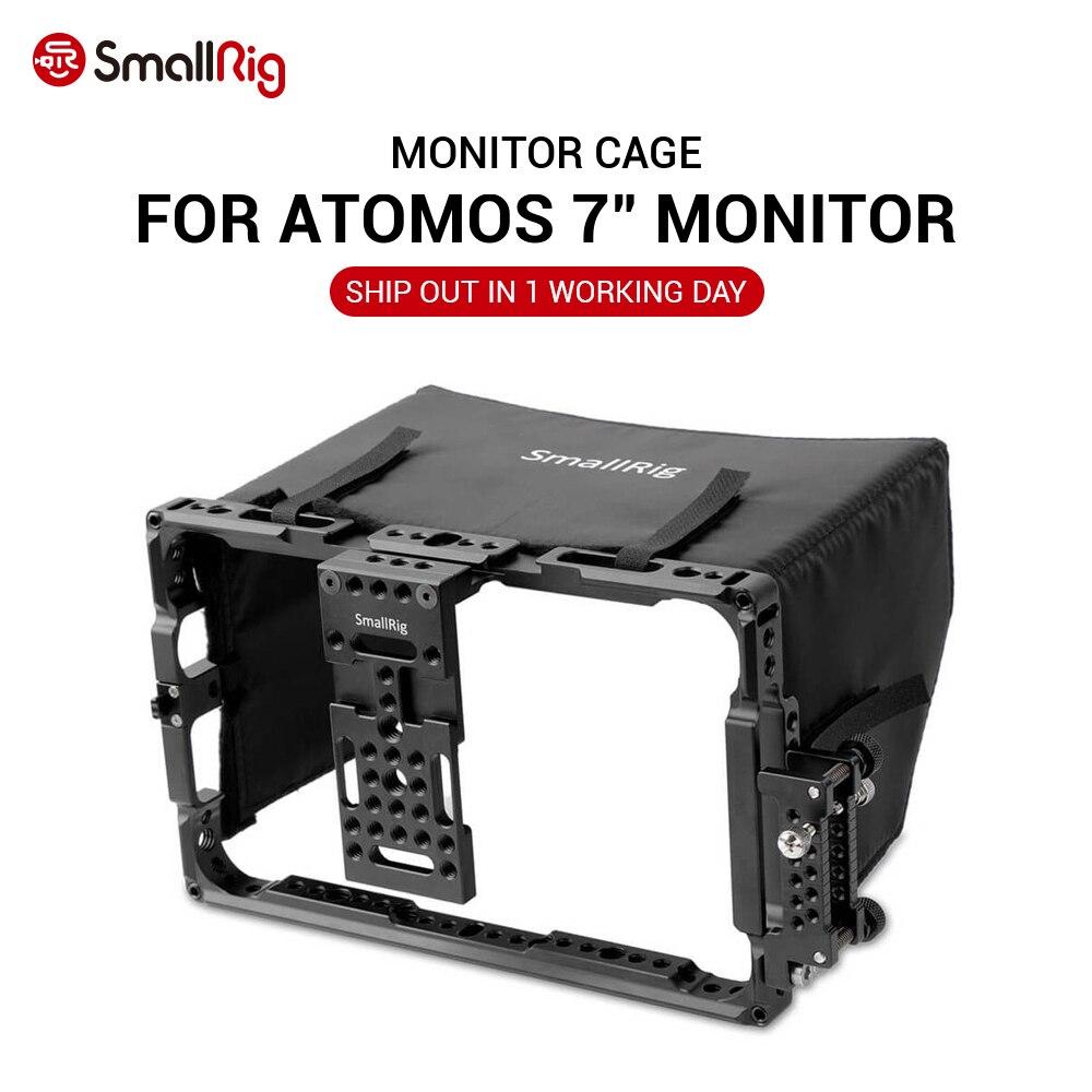 """Jaula de Monitor para el Director de SmallRig para Series ATOMOS Shogun inferior y Flame de 7 """"con parasol libre, 2008"""
