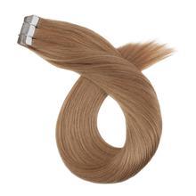14-24 дюйма, прямые человеческие волосы для наращивания на ленте, кожные уток, человеческие волосы, 20 P/40 P, не Реми, клеевые волосы для наращивания, двухсторонняя лента