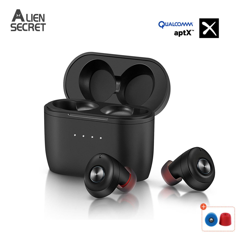 Чужой секрет QCC010 наушники-вкладыши TWS Bluetooth 5,0 наушники устройство, док-станция Qualcomm aptX Беспроводной наушники Шум отмены с микрофонами, 80 час...