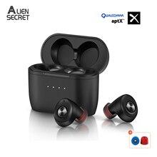 Earphone Bluetooth wireless headset QCC010 TWS Bluetooth 5.0 Earphones Qualcomm AptX Noise Cancellation Microphones 28H Playtime
