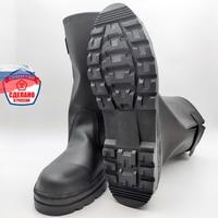 Сапоги мужские кирзовые со свободным голенищем на толстой подошве, обувь для похода в лес 1