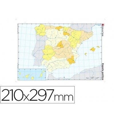 MAP MUTE COLOR DIN A4 SPAIN-POLITICO 100 Units