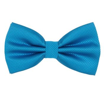 Men's bow tie (polyester, blue, texture) 50117