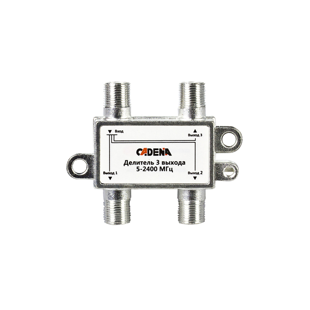 Divider 3 to 5-2400 MHz CADENA. Used for TV signal Division on 3 directions. Splitter on 3