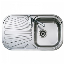 Sink with One Basin and Drainer Teka Reversible Stainless steel