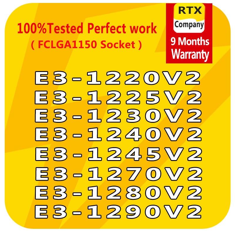 PC Computer Xeon Processor E3-1220V2 E3-1225V2 E3-1230V2 E3-1240V2 E3-1270V2 E3-1280V2 E3-1290V2 E3-1245V2 CPU Server Processor