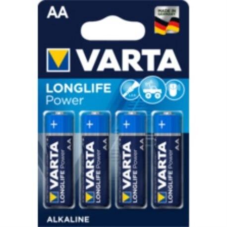 ALKALINE LR06 AA 1,5V LONGLIFE POWER VARTA 4 PZ
