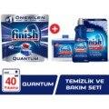 Finish Quanten 40 Tablet Spülmaschine Waschmittel + Finish Reinigung und Pflege Set