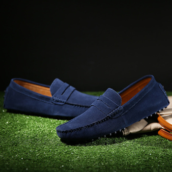 Size 6.5-13 Fashion Genuine Leather Men Loafers Comfortable Mens Casual Shoes Anti Slip Durable Moccasins Driving Shoes Flats цена 2017