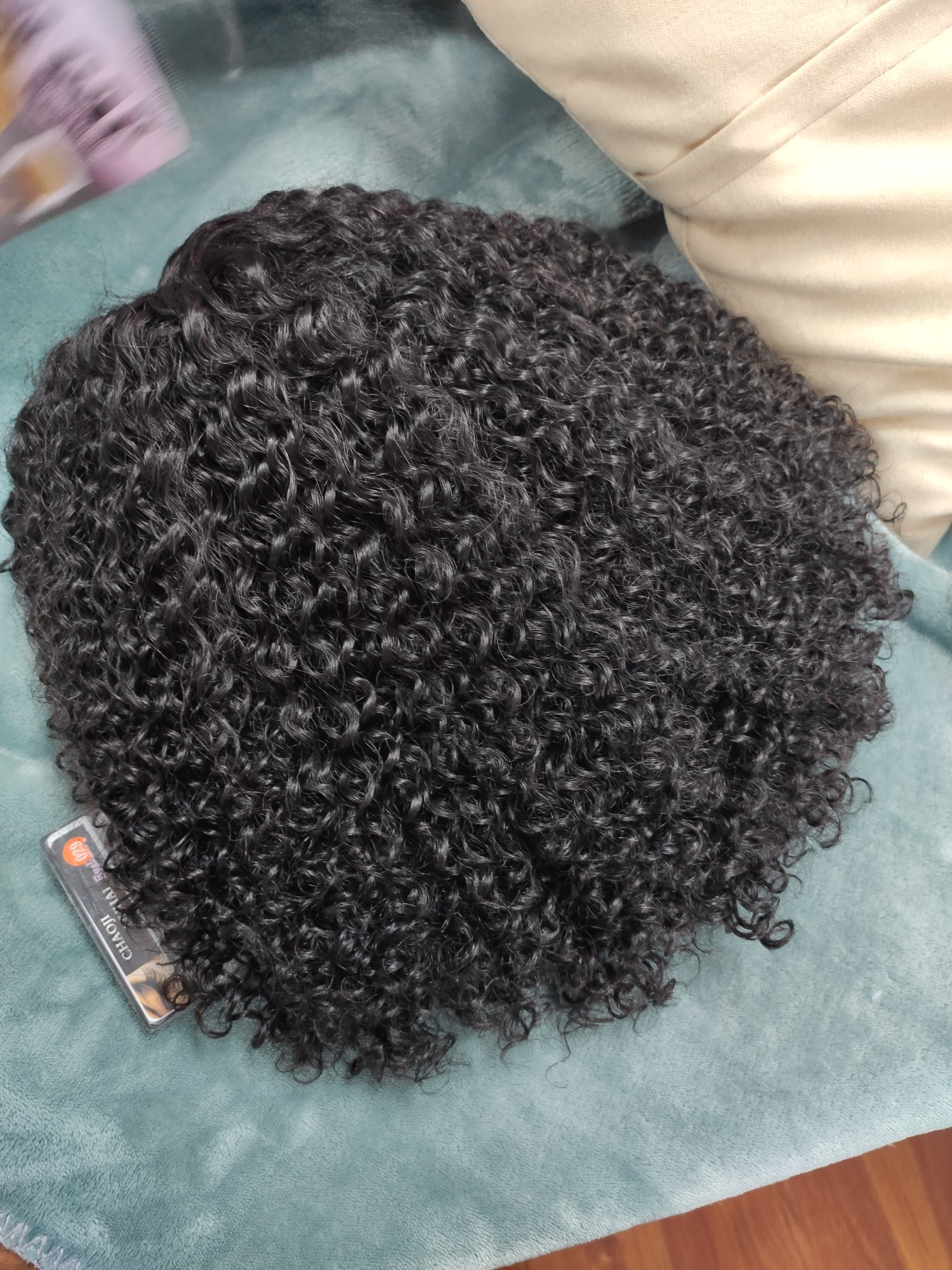 Kinky Curly Wig 13x1 T Part Lace Wig Human Hair photo review