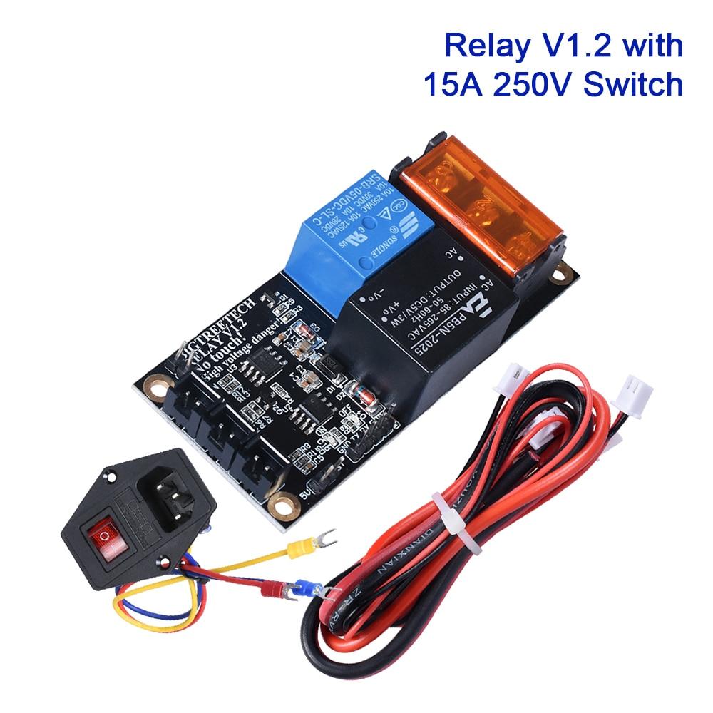 BIGTREETECH Relay V1.2 Automatic Shutdown Module With Power 15A 250V Rocker Switch Impresora 3D Printer Board SKR V1.3 E3 PRO