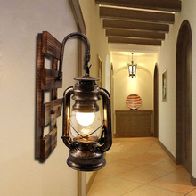 Artpad Американский Лофт промышленный Ретро настенный светильник AC90V 260V E27 металлический светодиодный регулируемый светильник для коридора, балкона