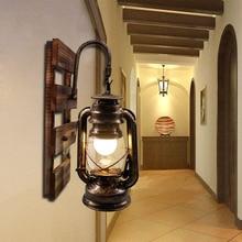 Artpad Amerikanischen LOFT Industrie Retro Wand Lampe AC90V 260V E27 Metall LED Einstellbare Korridor Balkon Licht für Innen Leuchten