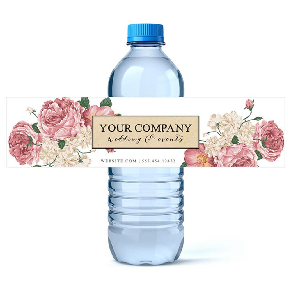 Personalized Birthday Water Bottle Labels Printable Company Logo Labels Custom Mr Mrs Wedding Water Bottle Labels Stickers Party Diy Decorations Aliexpress