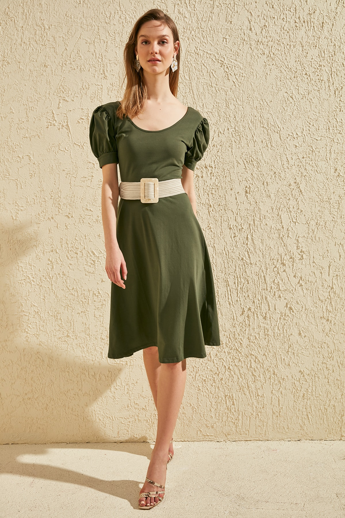 Trendyol Balloon Sleeve Knit Dress TWOSS20EL0655