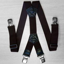 Подтяжки для брюк большого размера (4 см, 4 клипсы, Коричневый) 54160