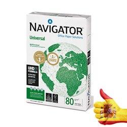 Kertas Putih Mesin Fotokopi Navigator Din A4 80 Gram Kertas Multi Tujuan Ink-Jet dan Laser-Paket 500 Lembar
