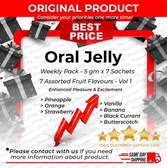 Lilly pharmaceutiques magasin officiel gelée orale paquet hebdomadaire 5gr x 7 pièces 7 arômes de fruits mélangés Vol 1 gel Libido aphrodisiaque