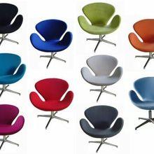 Кресло Лебединое кресло Arne Jacobsen поворотные кашемировые шерстяные цвета на выбор