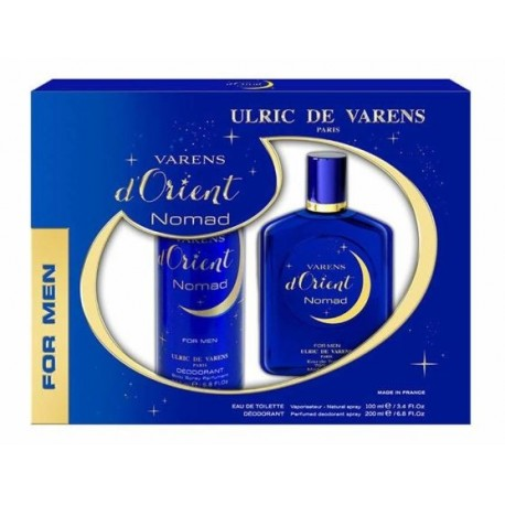 ULRIC DE VARENS D ORIENT NOMAD FOR MEN EDT 100ML + DEODORANT 200ML