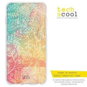 FunnyTech® Funda Silicona para Xiaomi Pocophone F1 l Flores fondo colores