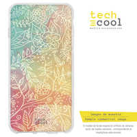 FunnyTech®Stand case for IPhone XR L Flowers Silicone fund colors