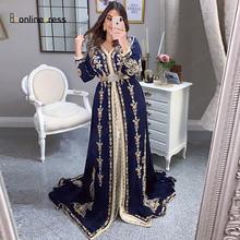 2020 Новое мусульманское вечернее платье в Дубае с длинной вышивкой
