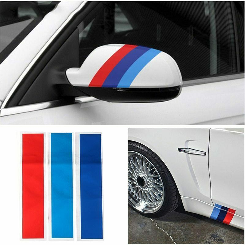 Decal sticker <font><b>vinyl</b></font> strip Grill 3 colors for M3 M5 E36 E46 E60 <font><b>E90</b></font> E92 badge fashion front rack image