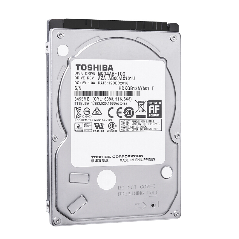 Toshiba 1TB <font><b>HDD</b></font> Laptop 2.5 SATA III HD Notebook 1T Internal Hard Drive Disk 2.5