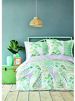 Karaca Home Camelia zielony podwójny zestaw Pique dane techniczne 100 bawełniane łóżko tanie i dobre opinie TR (pochodzenie)