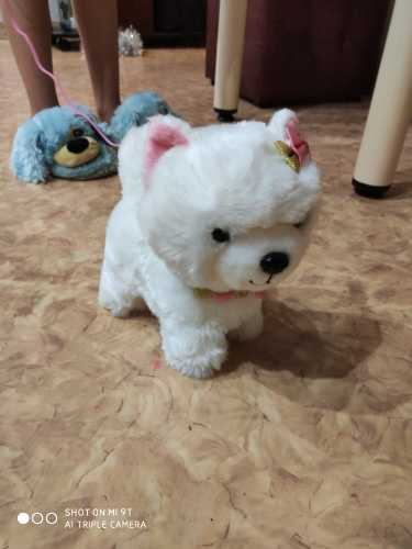 Дешевые Робот-собачка с звуковым управлением, интерактивная электронная игрушка для собак, плюшевые игрушки для щенков, поводок для лай, плюшевые игрушки для детей, подарки на день рождения