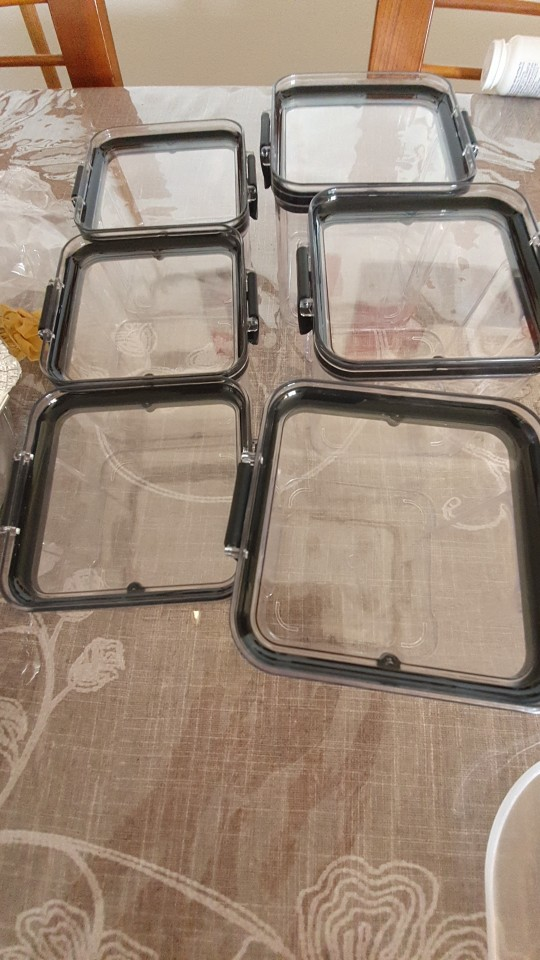 Rectangle Plastic Dry Transparent Food Storage Containers
