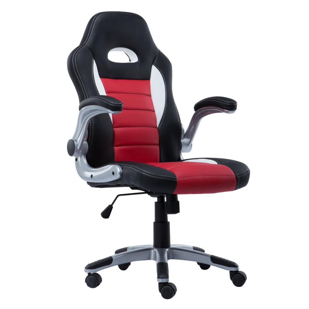 SOKOLTEC Fashion Professional Computer Chair LOL Internet Cafes Sports Racing Chair WCG Play Gaming Chair Office Chair, e sports leather game seat internet bar sports lol racing chair comfortable youtuber computer chair