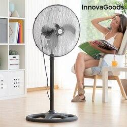 InnovaGoods Industrial Ø 45 cm 75W Black Pedestal Fan