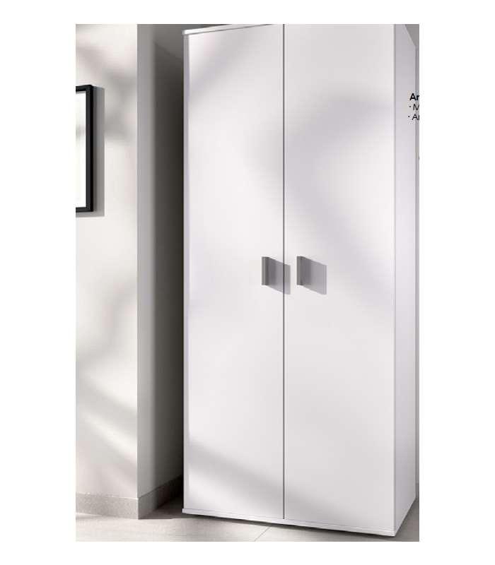 Wardrobe Multi-purpose White 2 Doors 3 Shelves.