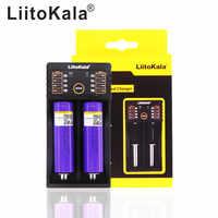 LiitoKala lii-202 USB 26650 18650 AAA AA Smart Charger + 2pcs 3.7V 18650 2600mAh batteries rechargeable Battery M26