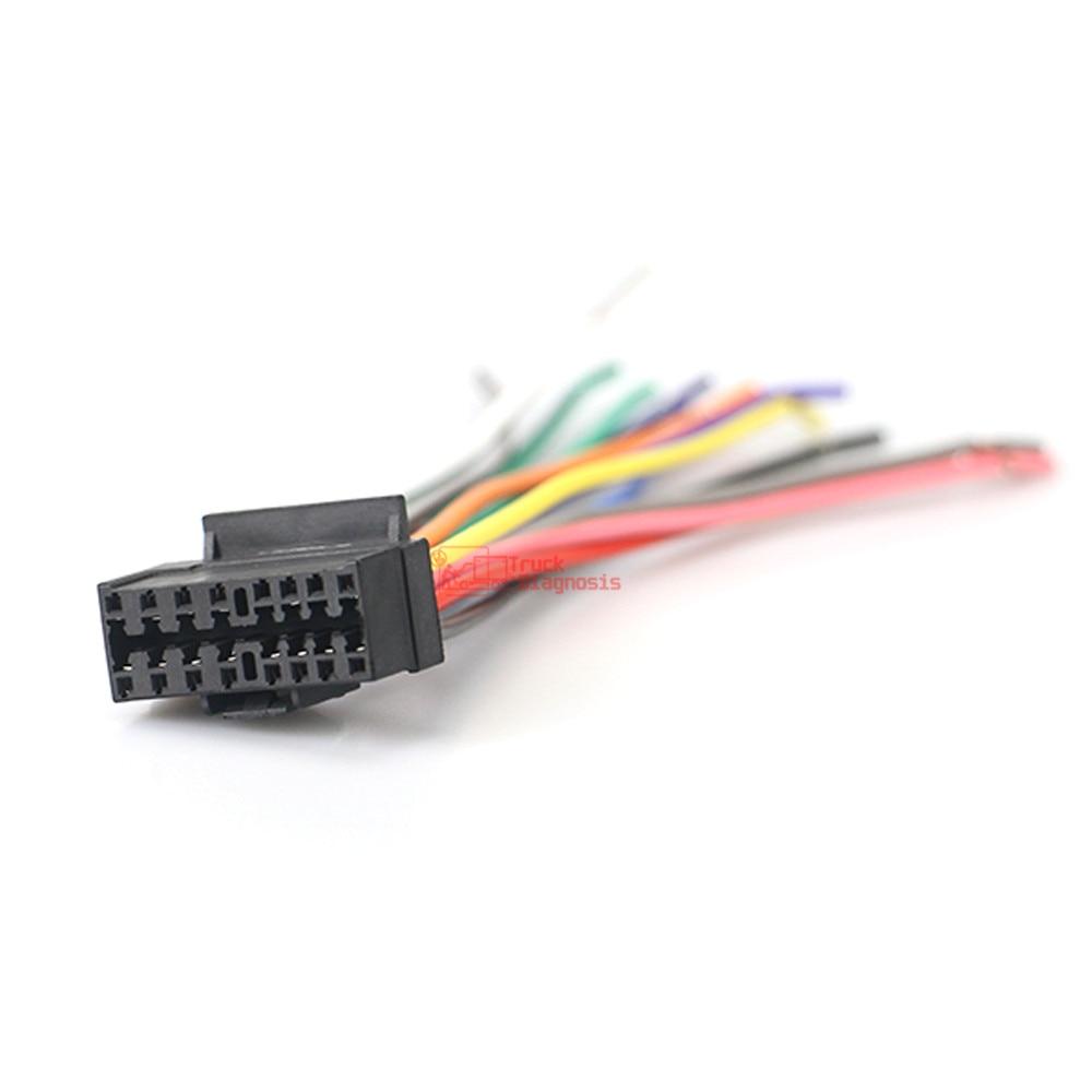 Jvc Sony 16 PIN AUTO RADIO estéreo de conexiones de cableado para ISO conexiones Telar Plomo