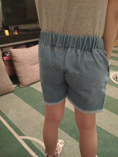 Girls Denim Shorts Teenagers Summer Lace Short Pants Kids Beach Clothes Children's Shorts For Teenage Girls photo review