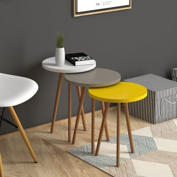 3 Round Nesting Colorful Side Tables 1
