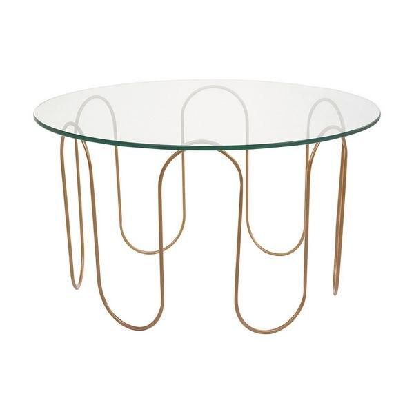 Centre Table (75 X 75 X 40 Cm) Crystal Iron