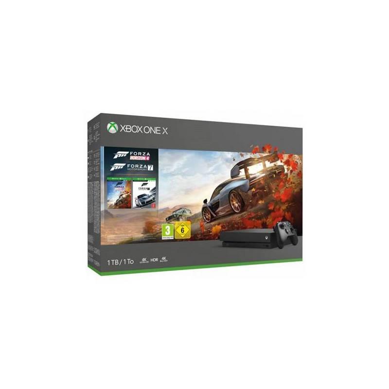Xbox One X + Forza Horizon 4 + Forza Motorsport 7 Microsoft 06224 1 TB 4K HDR Black