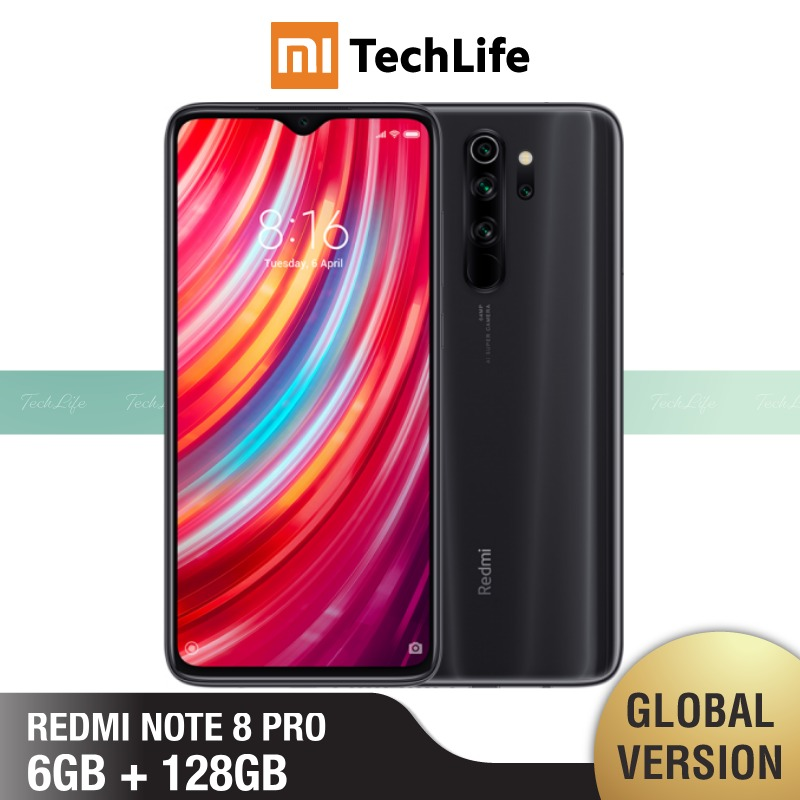 Xiaomi Redmi Note 8 Pro 6GB 64gb 8-Pro 128GB Nfc Quick Charge 3.0 Octa Core 64mp New