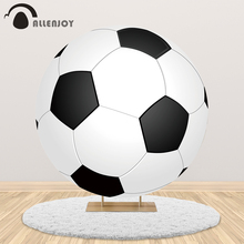 Allenjoy football Circle round backdrop birthday party soccer boy baby shower cake candy table cover banner photocall background allenjoy background photography wildlife jungle animal forest safari party boy kids birthday round backdrop cover photocall