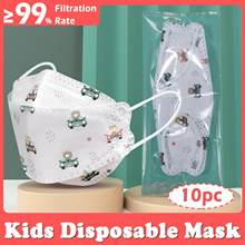Masques multicolores pour enfants, 5 couches, Filtration 95%, pour 9 à 12 ans, FFP2, KN95