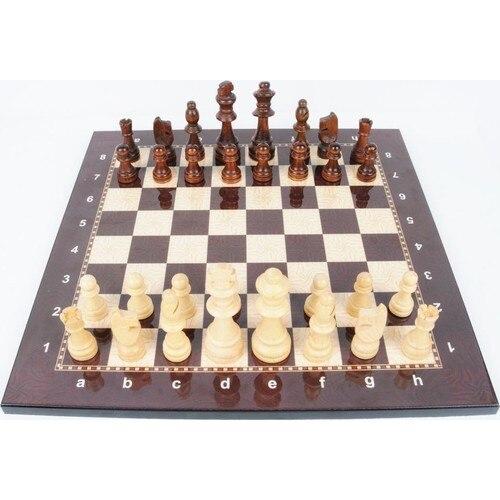 Jeu d'échecs de luxe en bois Figure d'échecs médiévaux - pièces et échiquier de haute qualité 2