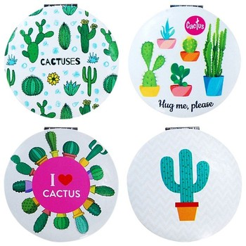 Espejo Cactus Redondo doble-details, recuentos y regalitos para bodas, comuniones baratos originales...