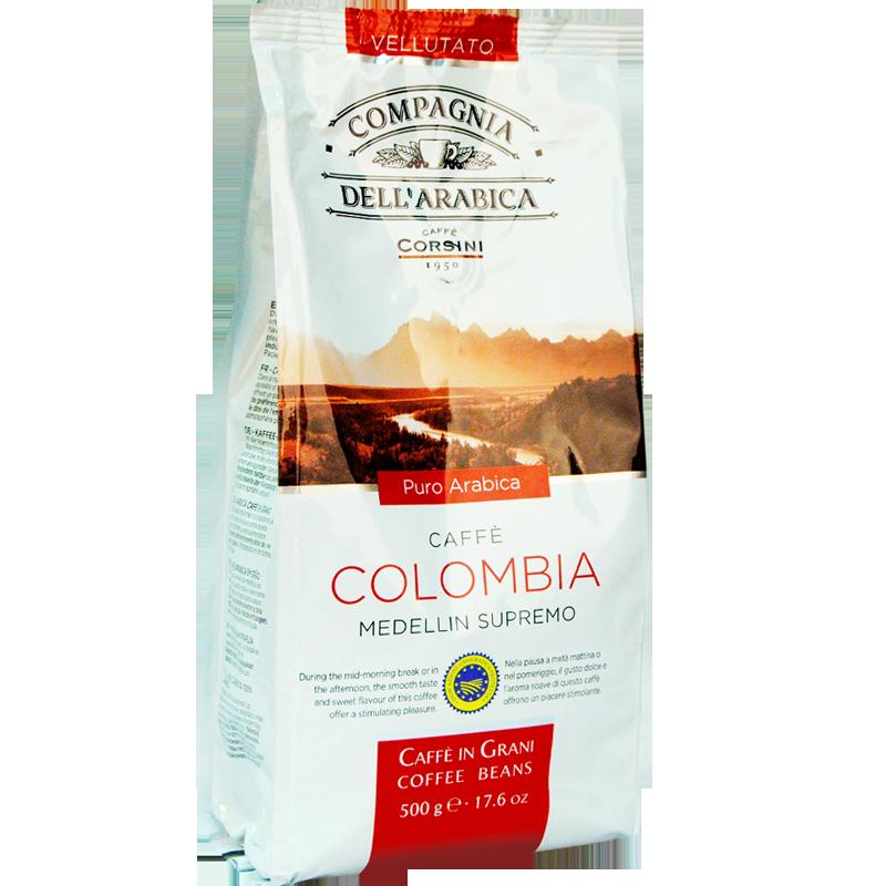 Кофе в зернах Compagnia Dell'Arabica Colombia Medellin Supremo 500г.