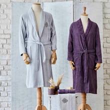Sarah Anderson Balmy New 4 Piece Gray Damson Family Bath Set Towel Robe Set 100% Cotton Absorbent Soft Texture