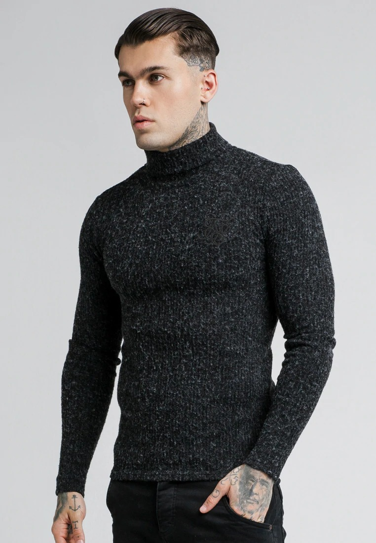 SikSilk Black Knitwear Men's Knitwear Sweater
